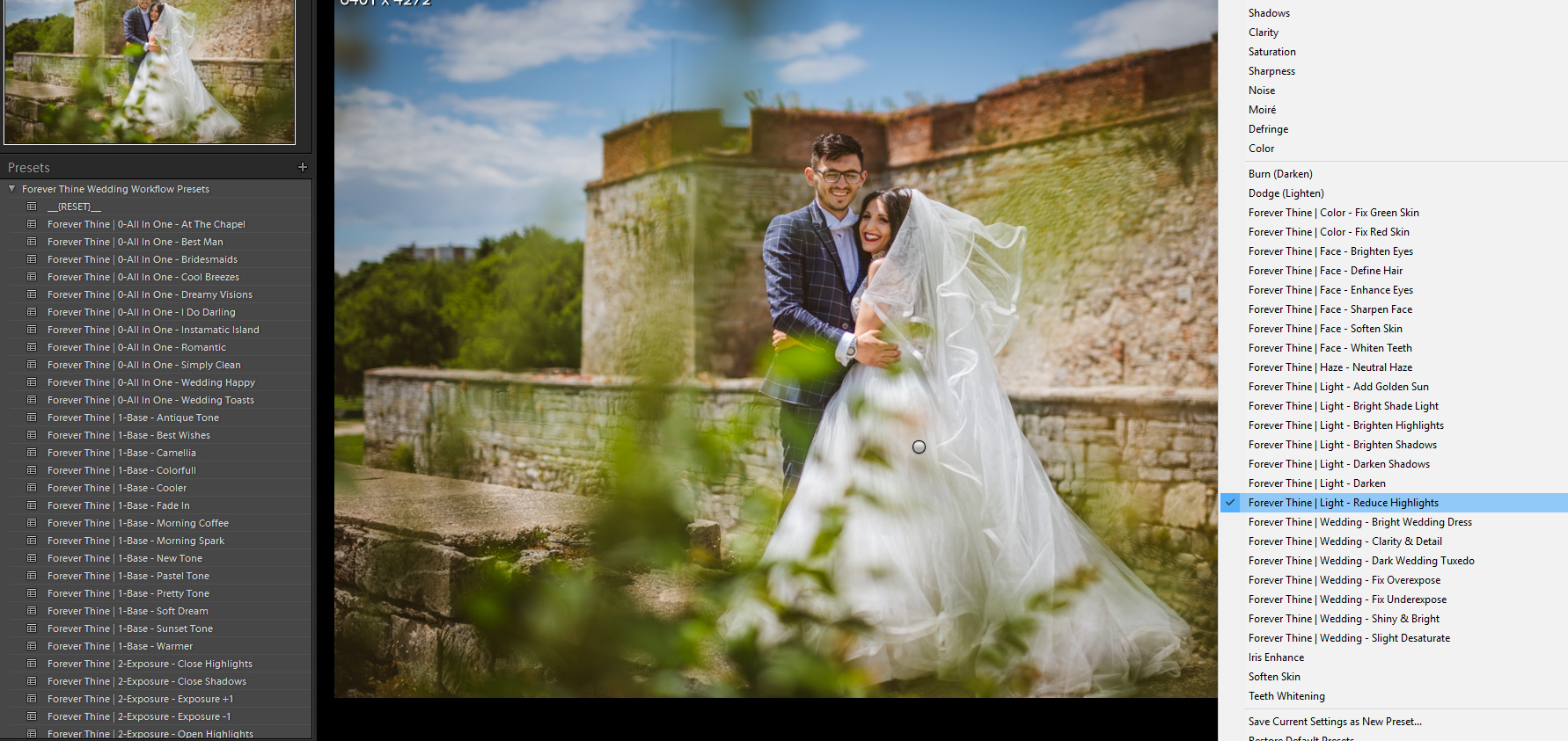 , Review | Forever Thine Wedding Workflow | Lightroom Presets & Brushes